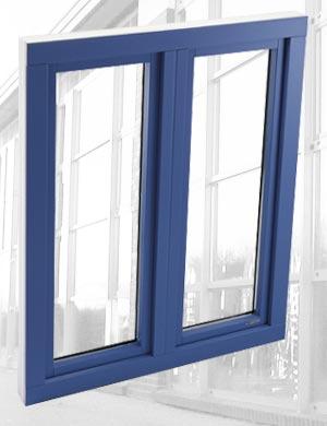 Fenster Innova 70 Aluschale Ansicht