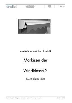 Markisen Modell 100 PDF-Vorschau