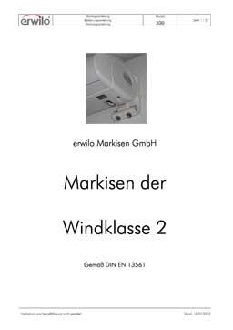 Markisen Modell 300 PDF-Vorschau