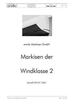 Markisen Modell 330 PDF-Vorschau