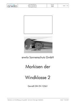Markisen Modell 360 PDF-Vorschau