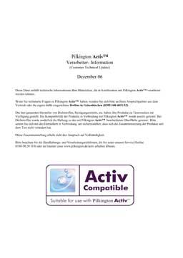Reinigungsmittel Activglas PDF-Vorschau